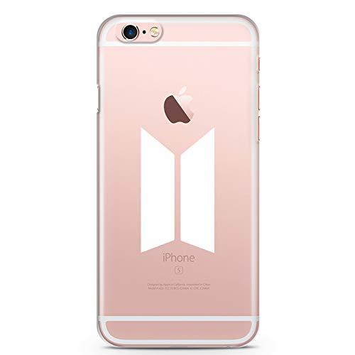 ZOKKO Coque iPhone 6s BTS - Souple Transparente Encre Blanc