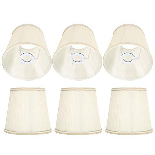 Cubierta de lámpara, Pantalla de lámpara de araña, Accesorio de luz Beige Moderno de 6 Piezas para Sala de Estudio, Dormitorio, Estudio
