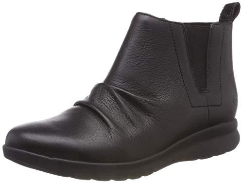 Clarks Damen Un Adorn Mid Schlupfstiefel, Schwarz (Black Leather), 39 EU