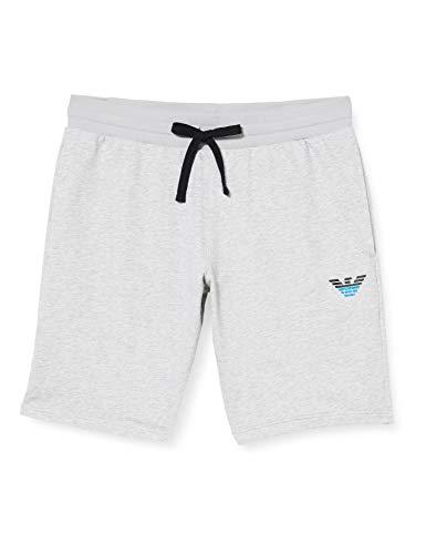 Emporio Armani Underwear Herren Homewear - Iconic Terry Bermuda Shorts, Grau (Grigio Melange 00048), W(Herstellergröße:M)