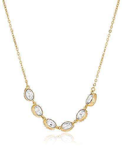 Swarovski Shell Halsband, Weiss, vergoldet