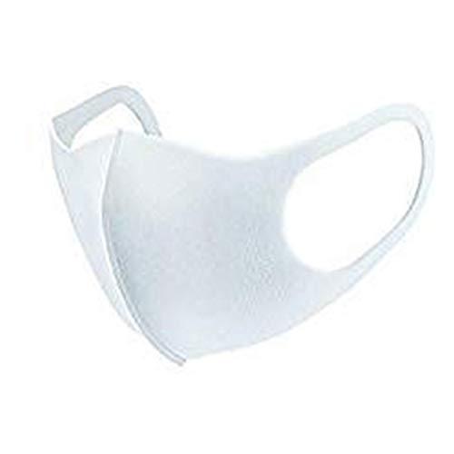 【4枚セット】 マスク 洗える 男女兼用 ウレタンマスク 白 黒 レギュラーサイズ 花粉対策 大人用 おしゃれ フィット 【※お一人様6点まで】 (WHITE, FREE)