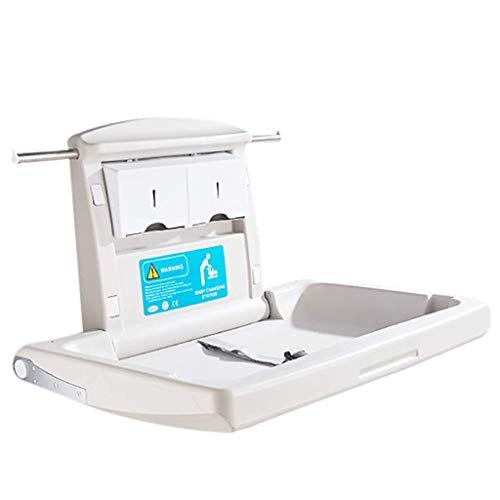HNBC Comfortabel uitklapbare wikkelstation voor baby's horizontale wandmontage robuust duurzaam tot 30 kg met veiligheidsgordels ideaal voor commerciële toiletten