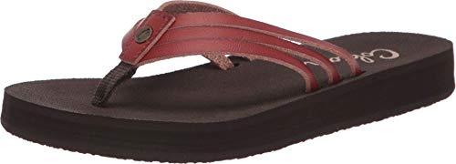 Cobian Women's Trinity Brown Flip Flops, 8