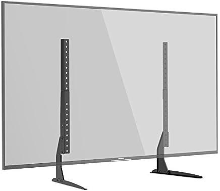 "1home Tubo de Subida Universal con Pedestal y Soporte Televisor para Monitor Adaptado a Pantallas 22""-65"""