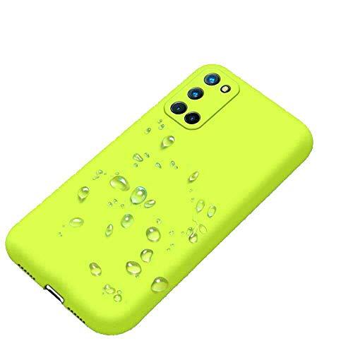 senza marchio Compatible con Xiaomi Redmi 9T / REDMI Note 9 (4G) / POCOPHONE Poco M3 Funda protectora Soft Slim Gel Silicona Matte Protección Flexible TPU Suave (Amarillo)