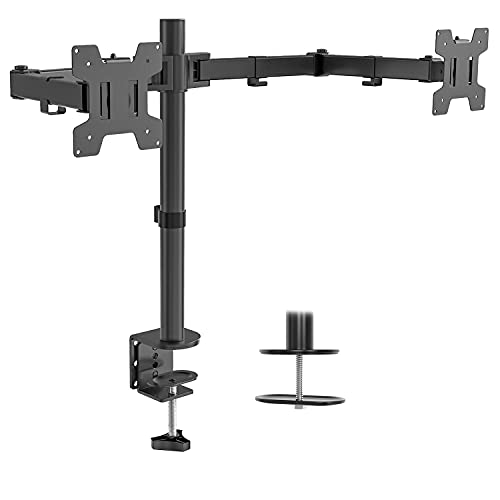 WALI Dual LCD Monitor Fully Adjustable Desk Mount Stand $15 + FS