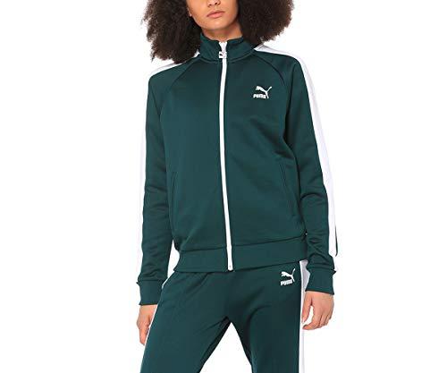 PUMA Classics T7 Track Jacke Damen grün/weiß, S