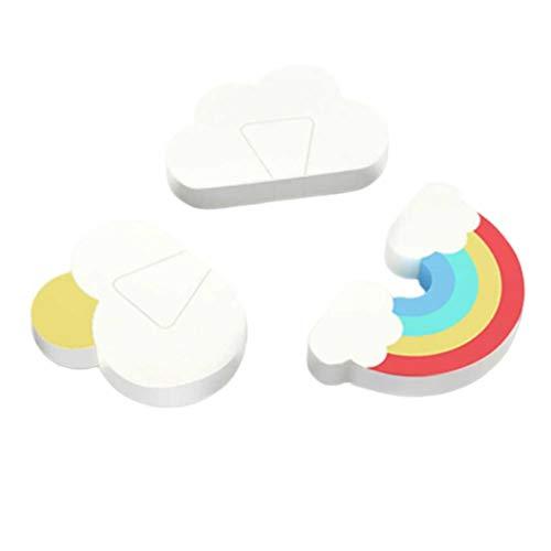 Amarillo Moededor para protector dedos 2 colores de silicona ajustable chupando la herramienta de protecci/ón del pulgar mordedor mordiendo para beb/és