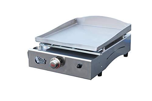 Plancha Tonio - Plancha LAGOA 2 à 6 personnes - Gaz butane propane - Plaque de cuisson inox – Caisson Tout Inox – 2600 W - Allumage Piezzo Mécanique - Fabrication 100 % Française
