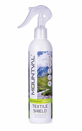 Mountval Textile Shield – Imprägnierspray für Regenwetterbekleidung, Outdoor Regenjacken & Wanderausrüstung mit angenehmem Geruch – Gore Tex kompatible Imprägnierung, lösungsmittelfrei (300 ml)