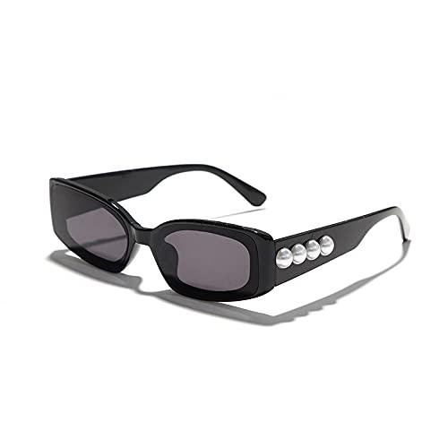 HAOMAO Gafas de sol fotocromáticas rectangulares con perlas Steampunk para mujeres y hombres Uv400 Gafas graduadas Vintage para conducción 4