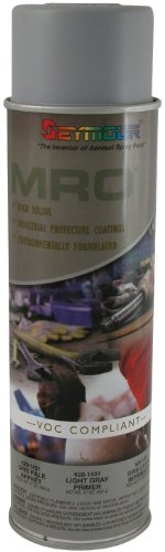 Seymour 620-1431 Industrial MRO High Solids Spray Paint, Light Gray Primer
