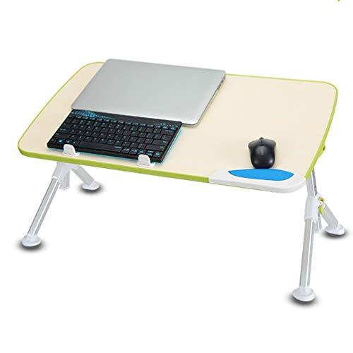 Klapp computer tafel, vouwtafel laptop staande aluminiumlegering binnen slaapzaal studie bureau hoogteverstelling buiten picknick vissen groen