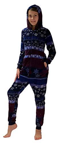 Meisjes jumpsuit overall pyjama Onesie - Norwege sterren look - 281 467 97 951, Maat: 140, Kleur: Navy