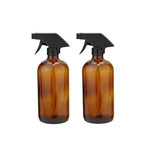 RONGJJ Botella de almacenamiento de vidrio con pulverizador, botellas vacías, color ámbar, para productos de belleza y cuidado de la piel, aceites esenciales, aromaterapia, 2 unidades de 240 ml