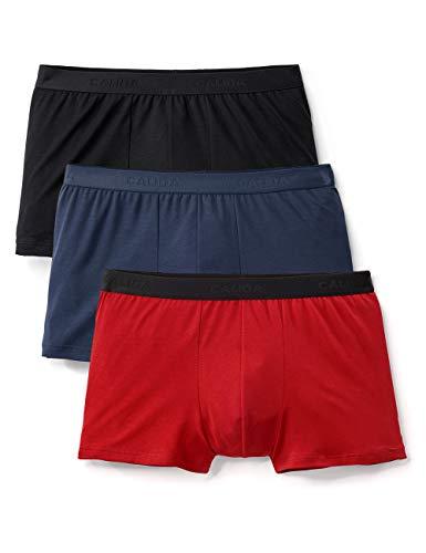 Calida Herren Natural Benefit Boxershorts (3er pack), Blau (Tricolor 769), Medium (Herstellergröße:M)