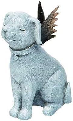 Transpac Distressed Silvertone Praying Angel Dog 3.5 x 4 Resin Decorative Tabletop Figurine