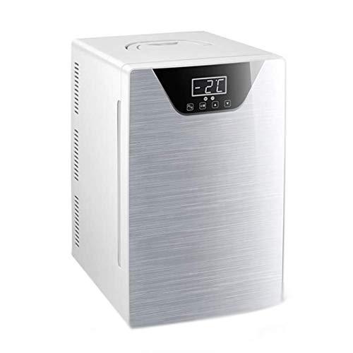 LKOER Refrigerador de 20L para refrigerador Mini pequeña Nevera pequeña Refrigerador Camping refrigerador de una Soltero Puerta Auto Refrigerador Travel Congelador Re jinyang (Color : Silver)