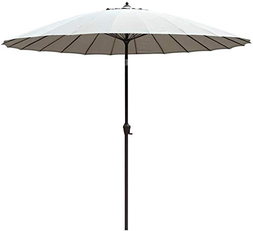 Sun Parasol 2.7M Round Tiltable/with Crank/38MM Umbrella Pole, For Terrace/Patio/Balcony/Coffee Table - Withou Base mwsoz (Color : Smoke Gray)