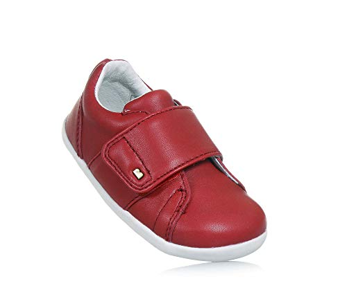 Bobux Chaussures Premiers Pas avec Velcro Step UP Boston BÉBÉ 729902 Rouge Taille: 20