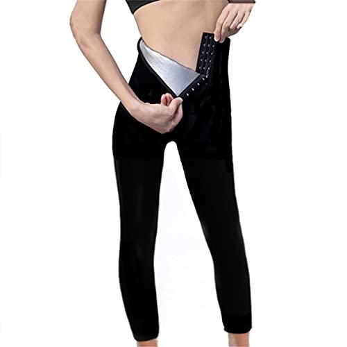 AioTio Fitness Donna Pantaloni Sauna Dimagranti, Leggings Anticellulite Snellente Pantaloni Sportivi Donna Legging Termici Vita Alta Pantaloni per Sudorazione(L, Pantaloni alla Caviglia)