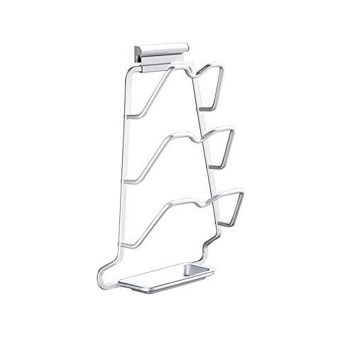 Ghelf Space - Estante de Aluminio para sartenes, Accesorio de Cocina versátil, Accesorios de Cocina de Metal, Tapa para sartenes, Soporte de Almacenamiento