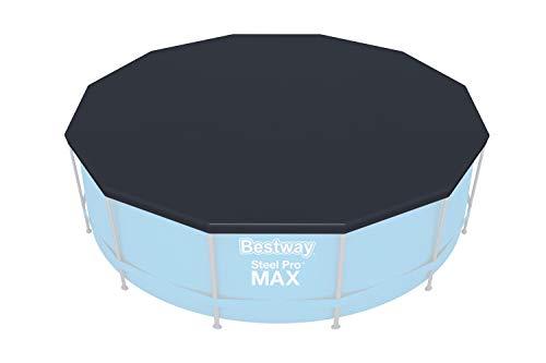 Bestway Steel PRO Max Frame - Piscine Rotonde con Telaio in Acciaio, Pompa Filtro e Accessori, 366 x 122 cm, Colore: Blu