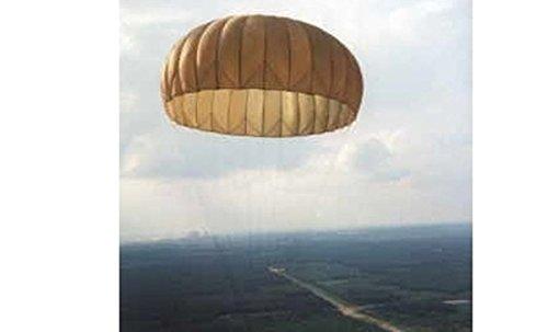 Armeeware Fallschirm 8-9 m Kappe T10 Dia gekürzte Leinen Oliv gebraucht Fallschirmkappe Sonnenschutz