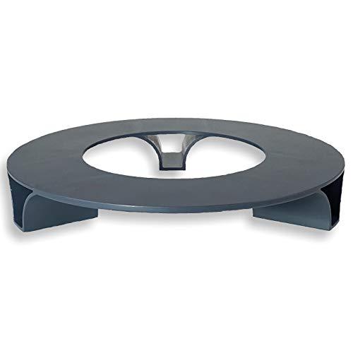 terraced® - Blumentopf Untersetzer - Farbe: Anthrazit - Rund - 27cm Durchmesser – Untersetzer Blumentopf – Recycling Material - Made in Germany