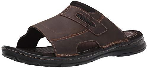 Rockport Men's Darwyn Slide 2 Sandal, Brown Ii Leather, 14 M US