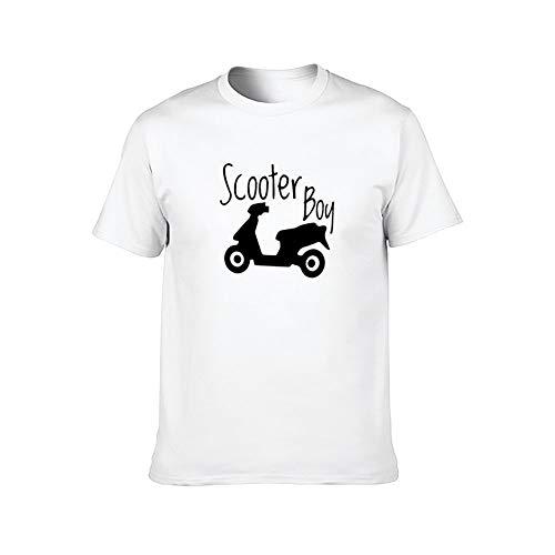 Camiseta para hombre con diseño de scooter Boy con scooter – ComfortSoft manga corta – Camiseta blanca con diseño de scooter 1 4XL