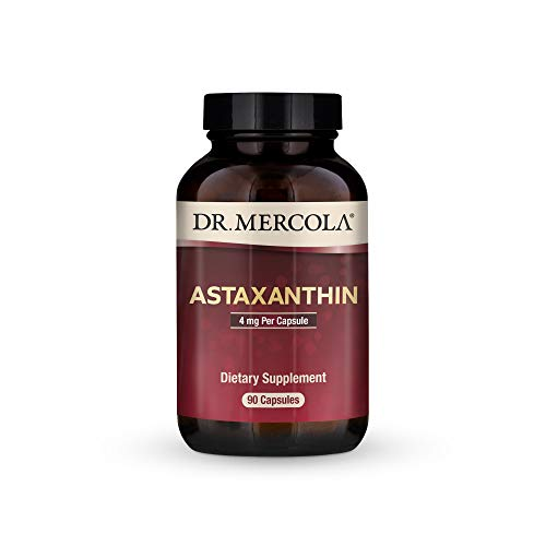 Dr Mercola Astaxanthin 4mg, 90 Servings (90 Capsules), Non GMO, Soy Free, Gluten Free