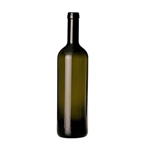 Giosal Bottiglia Vetro Scuro Bordolese Vino Confezione 6 Pezzi 75 cl AV59299-75 Cl