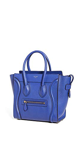 What Goes Around Comes Around Women's Celine Blue Luggage Micro Bag, Blue, One Size