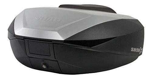 SHAD D0B59100 Koffer Top Case Expandable SH59X, Aluminium, Normal