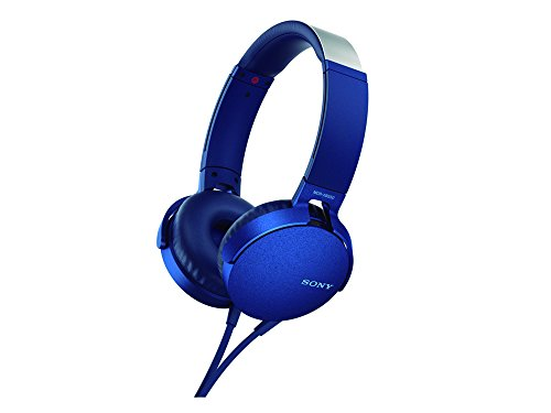 Sony MDR-XB550AP - Audífonos de diadema EXTRA BASS con micrófono para llamadas con manos libres , Azul
