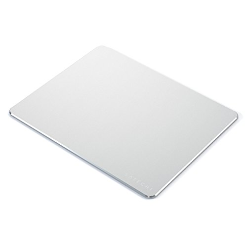 Satechi Aluminum Mouse Pad with Non-Slip Rubber Base for Computers, Laptops and Desktops (Silver)