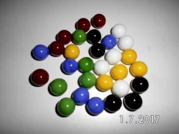 Gaide und Petersen 30 Murmeln in 6 Farben 14mm, Glaskugel, Kugel aus Glas