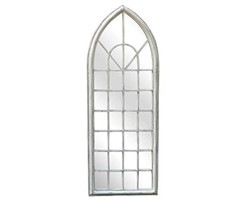 Charles Bentley Specchio da Giardino AD Arco Shabby Chic - Bianco