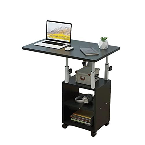 Stående Skrivbord Dator Bärbarbord Med Hjul & Skenframöppnad Höjd Justerbar Skrivbord För Hemmakontor 60x40cm Varvstående skrivbord