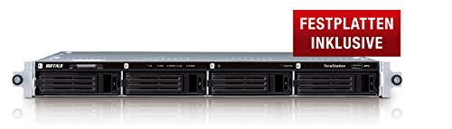 Buffalo TS1400R1204-EU TeraStation 1400 Rackmount NAS-Server 12TB (4X 3TB, 1x Gigabit, RAID 0/1/5/6/10) schwarz