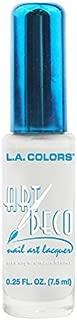 LA Colors (1) Bottle Art Deco Nail Art Lacquer Precision Pointed Brush - Create your own nail designs White Nail Polish
