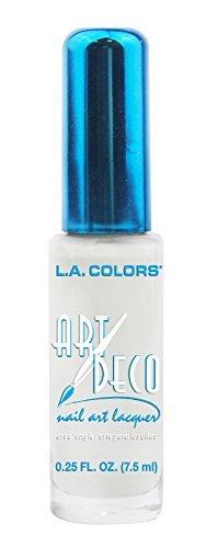 L.A. Colors Art Deco Nail Art 901 White by L.A. Colors
