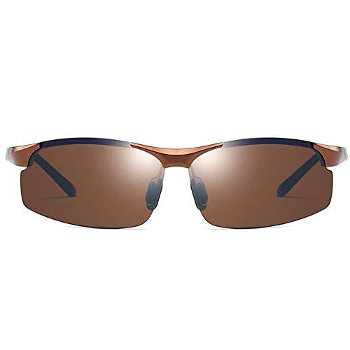 CDNS Gafas de Sol Polarizadas Aluminio-Magnesio Deportes Día Y Noche Dual Uso Uv400 Gafas de Sol Tendencia Hombres Marrones Conduciendo Gafas de Sol Clásico
