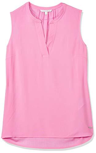 TOM TAILOR Denim Damen Top Tunika-Shirt, 21347-wild Orchid pink, L