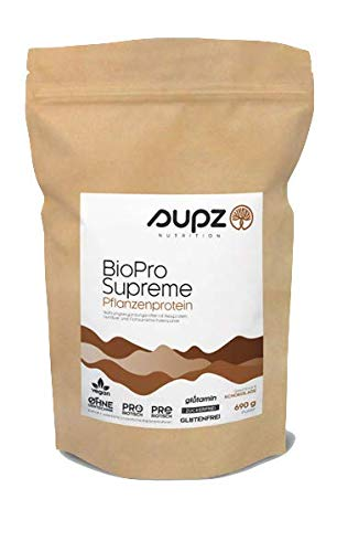 SUPZ Nutrition| BioPro Supreme | Pflanzenprotein | Protein-Darmflora-Komplex | Veganes Proteinpulver | 690g (Schokoladen Geschmack)