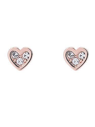 Ted Baker Neena Nano Heart Stud Earrings - Rose Gold or Silver Tone Plated...