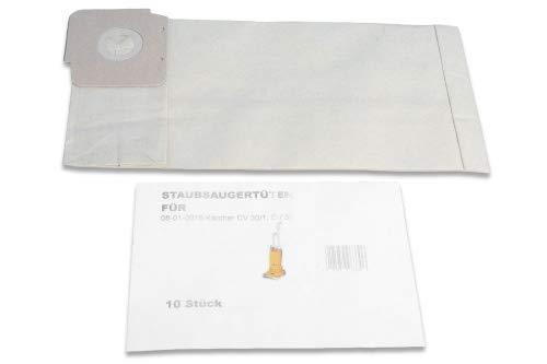 Set de 10 sacs d'aspirateur premium compatible avec Kärcher CV 30/1, 38/2, 48/2