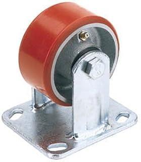 Draper 65525 100mm Dia. vaste plaat bevestigen zware polyurethaan wiel